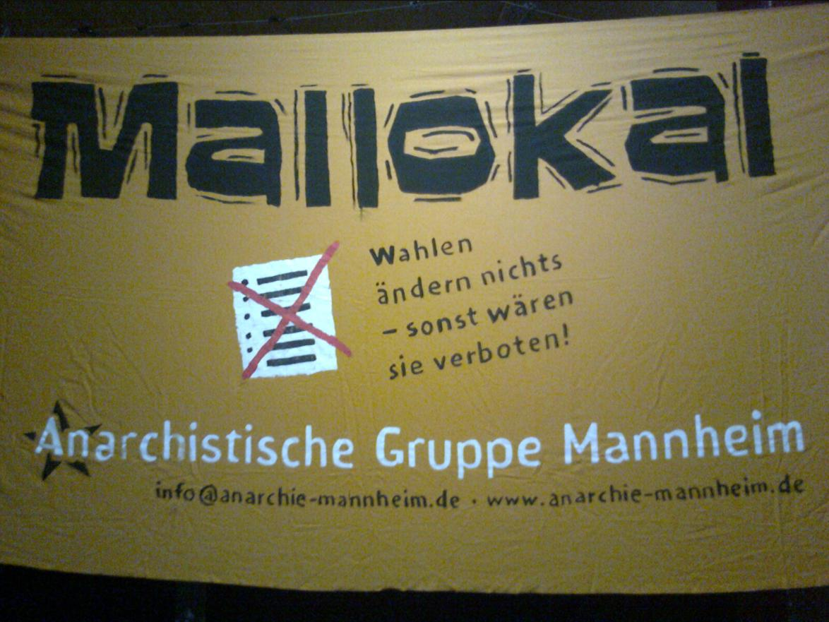 Mallokal - gegen Wahlen